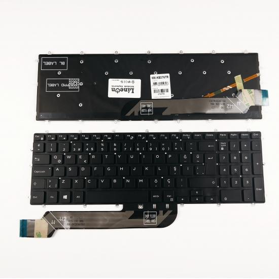 Dell 3NVJK 03NVJK Işıklı Klavye Tuş Takımı Siyah Türkçe