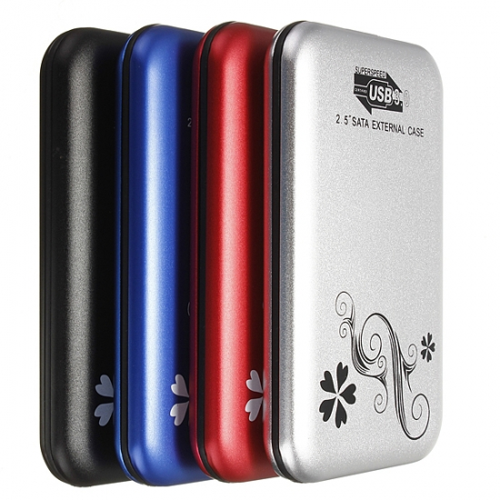 External 2.5 inç Harici HDD Kutusu USB 3.0 Desenli