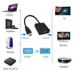 LineOn HDMI to Vga Çevirici Aparat