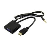 HDMI to VGA + Ses aktarma - Tüm Cihazlarla Uyumlu
