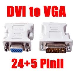 DVI VGA Dönüştürücü Aparat 24pin + 5 Pin